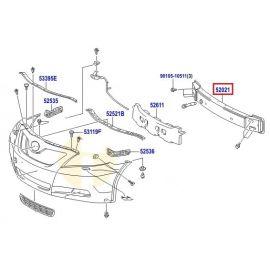 Усилитель бампера переднего Toyota Camry v40 (2006-2011)