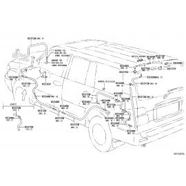Насос омывателя заднего стекла Toyota L Cruiser 100 (2002-2007)