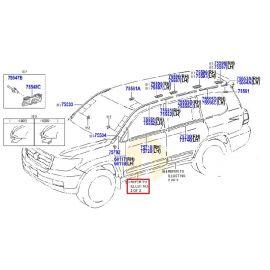 Накладка (молдинг) передней двери правая Toyota L Cruiser 200 (2007-2015)