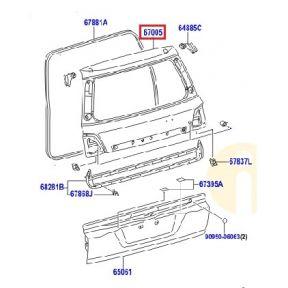 Крышка багажника Toyota L Cruiser 200 (2007-2015)