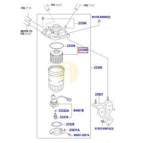Фильтр топливный (инжектор) Toyota Prado 150 (2009-н.в.)