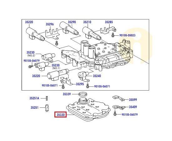 Фильтр АКПП Toyota Camry v40 (2006-2011)