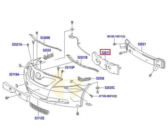 Абсорбер бампера переднего Toyota Camry v40 (2006-2011)