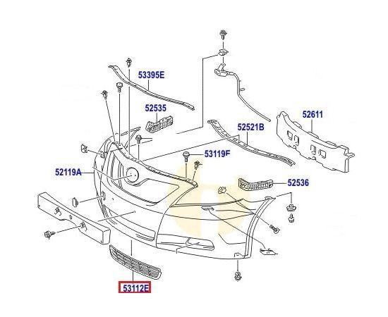Решетка бампера переднего Toyota Camry v40 (2006-2011)