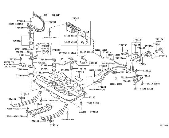 Фильтр топливный Toyota Camry v50 (2011-н.в.)