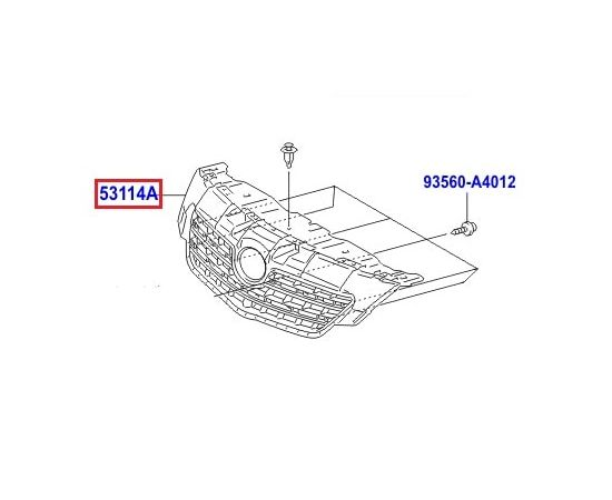 Решетка радиатора Toyota Corolla e150 (2006-2012)
