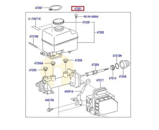 Цилиндр тормозной главный Toyota L Cruiser 200 (2007-2015)