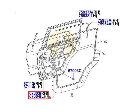 Дверь задняя правая Toyota L Cruiser 200 (2007-2015)