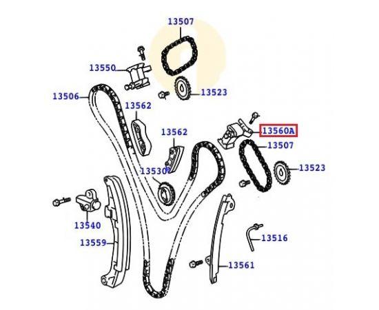 Натяжитель цепи ГРМ левый Toyota Prado 120 (2002-2009)