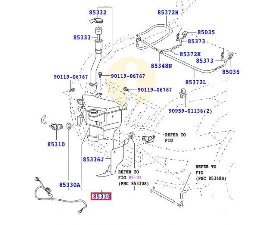 Бачок омывателя Toyota Prado 120 (2002-2009)