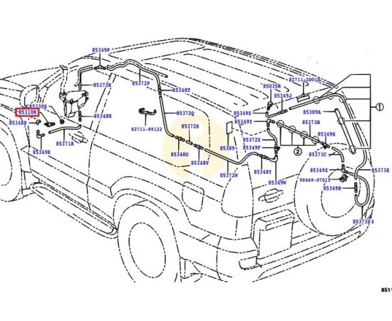 Насос омывателя заднего стекла Toyota Prado 120 (2002-2009)