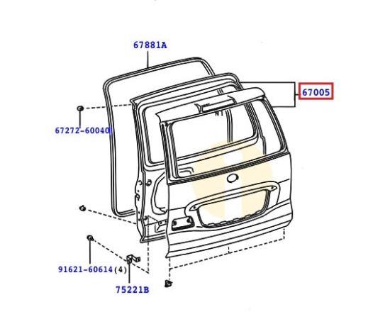 Дверь багажника Toyota Prado 120 (2002-2009)