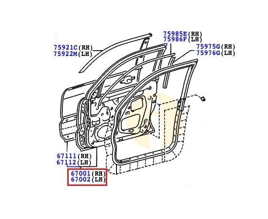 Дверь передняя правая Toyota Prado 120 (2002-2009)