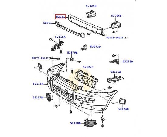 Усилитель бампера переднего Toyota Prado 120 (2002-2009)