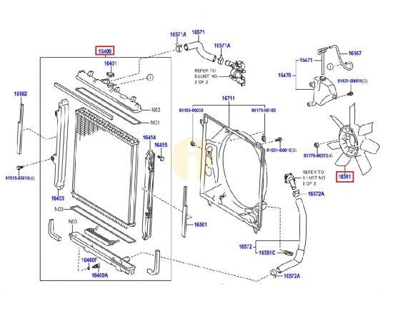 Крыльчатка вентилятора охлаждения Toyota Prado 150 (2009-н.в.)