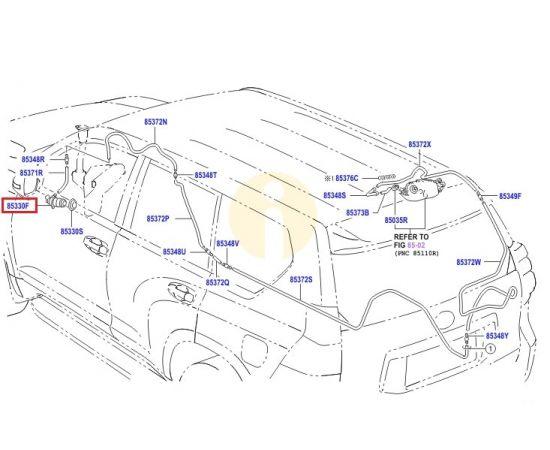 Насос омывателя заднего стекла Toyota Prado 150 (2009-н.в.)