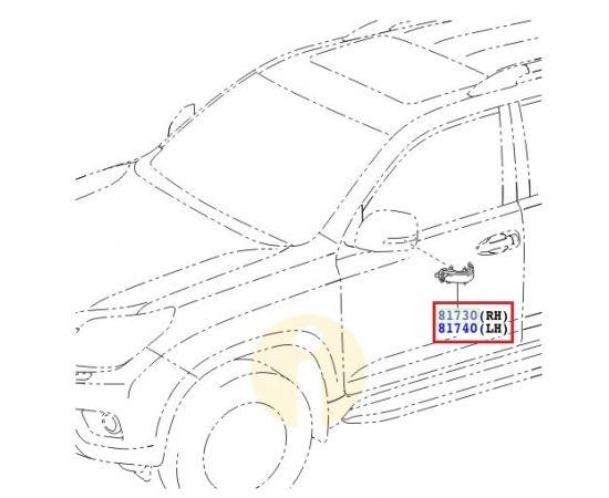Повторитель поворота левый (зеркало) Toyota Prado 150 (2009-н.в.)