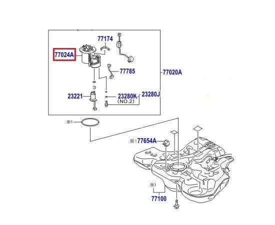 Фильтр топливный Toyota Corolla e150 (2006-2012)