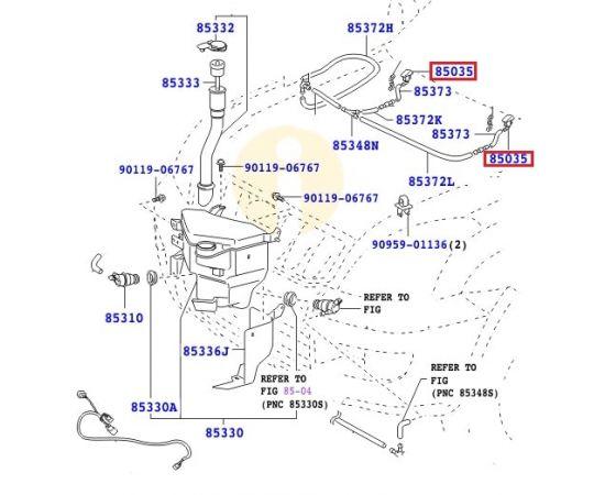 Форсунки стеклоочистителя Toyota Prado 120 (2002-2009)