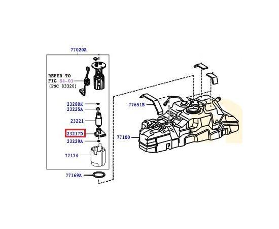 Фильтр топливный Toyota Prado 120 (2002-2009)