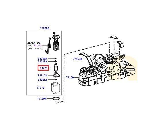 Насос топливный (бензонасос) Toyota Prado 120 (2002-2009)
