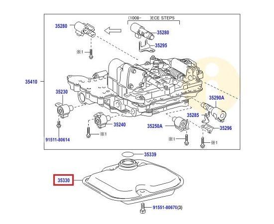 Фильтр АКПП Toyota Corolla e150 (2006-2012)
