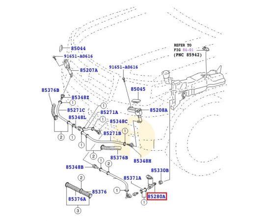 Моторчик омывателя фар Toyota L Cruiser 200 (2007-2015)