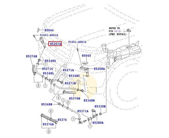 Форсунка (актуатор) омывателя фар правая Toyota L Cruiser 200 (2007-2015)