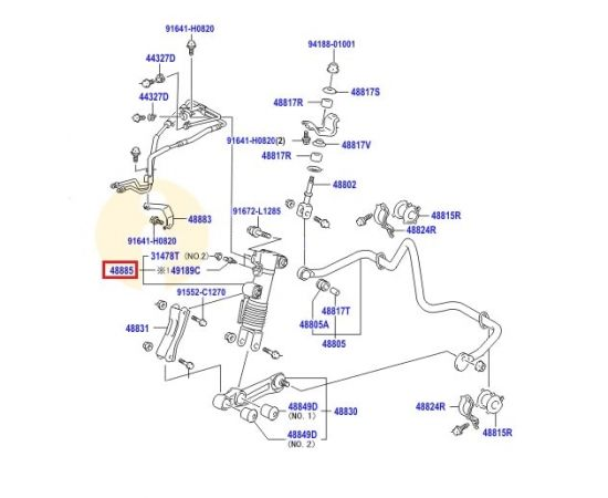 Амортизатор стабилизатора Toyota L Cruiser 200 (2007-2015)