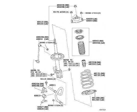 Пружина передняя правая Toyota Highlander 3 (2014-н.в.)