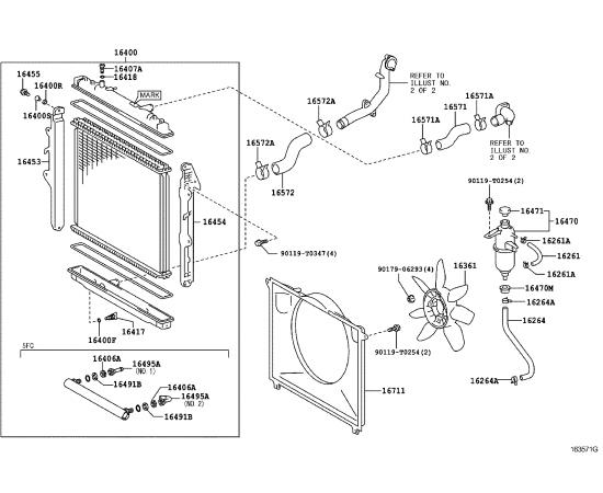 Диффузор вентилятора охлаждения Toyota Hilux 7 (2005-2016)