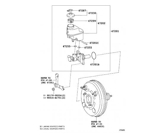 Цилиндр тормозной главный Toyota Hilux 7 (2005-2016)