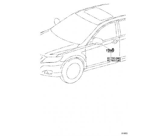 Повторитель поворота правый (зеркало) Toyota Prius 30 (2009-н.в.)
