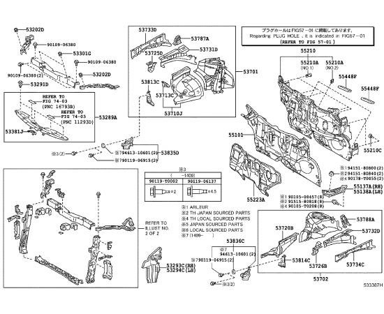 Панель передняя Toyota Prius 30 (2009-н.в.)