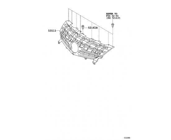 Решетка радиатора Toyota Prius 30 (2009-н.в.)