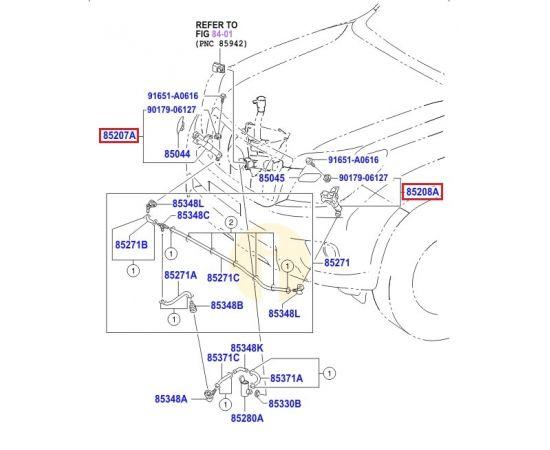 Актуатор форсунки омывателя фар Toyota Prado 150 (2009-н.в.)