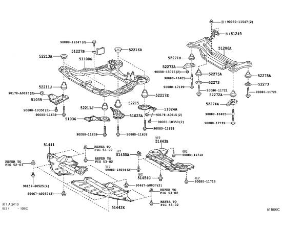 Защита двигателя (картера) Toyota Venza (2009-н.в.)