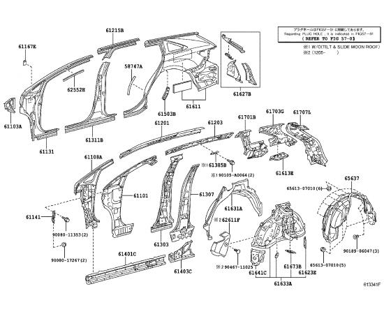 Боковина кузова верхняя правая Toyota Venza (2009-н.в.)
